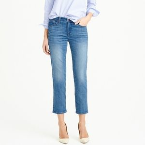 J Crew Vintage Cropped Medium Wash Cropped Jeans